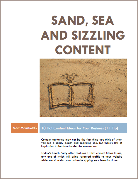 Sand Sea and Sizzling Content